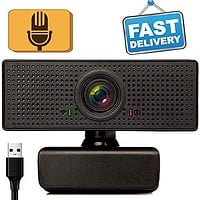 1080P HD Webcam with Microphone, Webcam for Gaming Conferencing, Meeting Laptop or Desktop Webcam, USB Computer Camera for Mac, Free-Driver Installation Fast Auto-Focus : Electronics