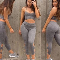 2016 new arrival women's casual sports suit women's fitness loaded hollow