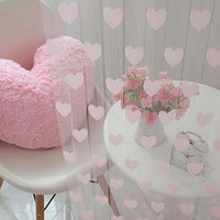 Novelty Heart Decor Window Room Line Curtain String Tassel Door Curtain Divider String Curtain