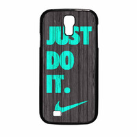 Nike Just Do It Wood Colored Darkwood Wooden Fdl Samsung Galaxy S4 Case