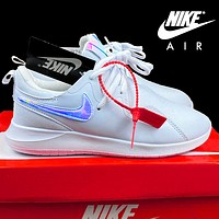 Nike Roshe White With Laser Hook Logo Sports Shoes Light and breathable Sneakers