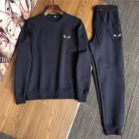 Fendi Fashion Men's Sweater Hoodies T- shirt Bomber Jacket Casual Embroidery F Logo Printed   Tracksuit Outerwear Coat Hip Hop Slim Fit Hooded Jackets
