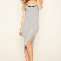 Micro-Ribbed Striped Dress | Forever 21 - 2000220258