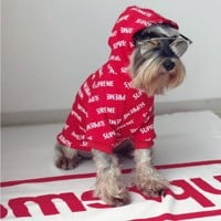 Red SUPREME DOGS Clothes