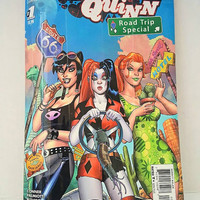 Harley Quinn Clutch Bag - Upcycled Comic Book Purse