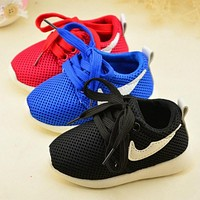 2016 Spring Autumn Toddle Shoes Chidlren Baby Shoes Mesh Boys Girls Sneakers Soft Bott