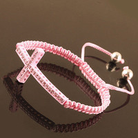 Fashion Cross Bracelet - Pink