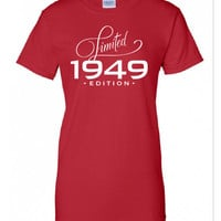 1949 Limited Edition B-day T Shirt 65th Birthday Gift Cool hipster swag mens womens ladies TShirt T-Shirt T Shirt Tee Unisex - DT-369