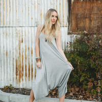 Ready For More Harem Romper - Heather Gray