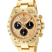Rolex Men's Daytona Automatic Chronograph Champagne Dial Oyster 18k Solid Gold