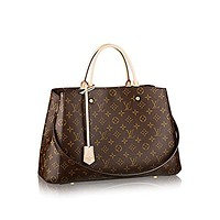 Louis Vuitton Montaigne GM Monogram Handbag Article: M41067 Made in France