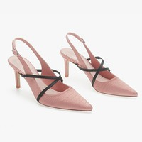 Hot sellers of women's pointed low-top shoes with cross-strap stiletto heels