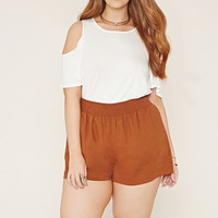 Plus Size Smocked Shorts