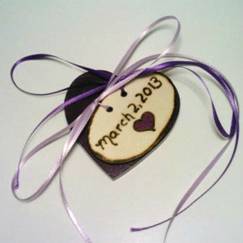 Shabby Chic Ring Bearer Pillow, Country Chic Ring Bearer Pillow, Purple Wedding, Rustic Wedding