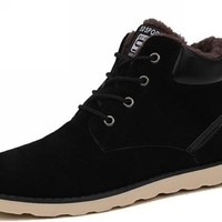 Mens Street Style Casual Winter Ankle Sneaker Boots