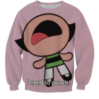 Buttercup Needs To Punch Sweater