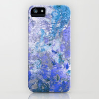 Cornflower Blue Abstract Painting iPhone & iPod Case by TigaTiga Artworks | Society6
