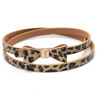 The Leopard Bowknot Belt