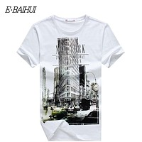 t shirt  casual tops tees Fitness Men cotton T-shirts Camisetas  Swag t shirt  Y050