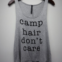 Camp Hair Don't Care tank top