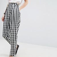 ASOS Gingham Tapered Peg Pants at asos.com