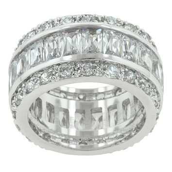 Kinsley Classic Cluster Eternity Cocktail Ring   11ct   Cubic Zirconia