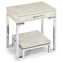Regina Andrew Ivory Grey Shagreen End Table