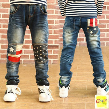 Toddler Children new fashion clothes kids baby Patchwork pants Boys Trousers jeans 2-16 Year = 1930285316