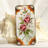 Mother's Day cross-stitch machining photograph iPhone 4 Case, iPhone 4s Case, iPhone 5 case
