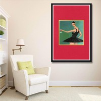 X065 Kanye West My Beautiful Dark Twisted Fantasy Music Album A4 Art Print Poster Silk Light Canvas Painting Home Decor Wall Pic
