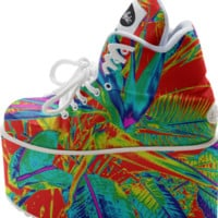 Trippy Bird of Paradise Platforms created by PoseManikin | Print All Over Me