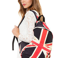 *Accessories Boutique The Distressed UK Canvas Backpack