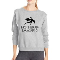 Hot Sale women sweatshirt Game of Thrones Mother Of Dragons 2016 autumn winter style fleece casual hipster o-neck hoodies