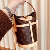 Louis Vuitton LV High Quality New Women Leather Bucket Bag Handbag Tote Crossbody Satchel Shoulder Bag