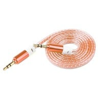3.5mm Stereo Auxiliary Cable Male to Male Flat Audio Music Aux Cord Headphone #78743