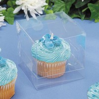 Package of 24 Clear Single Cupcake Boxes