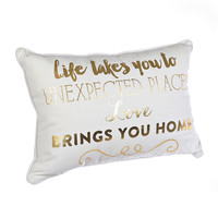 Unexpected Places Accent Pillow