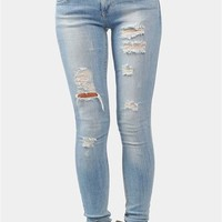 Dustin Ripped Jeans - Blue at Necessary Clothing
