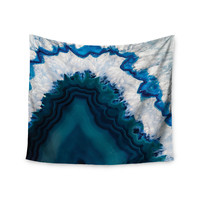 "KESS Original ""Blue Geode"" Nature Photography Wall Tapestry"