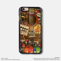 The Beatles Music Poster Vintage Guitar iPhone 6 6Plus case iPhone 5s case iPhone 5C case iPhone 4 4S case Samsung galaxy Note 2 Note 3 Note 4 S3 S4 S5 case 491