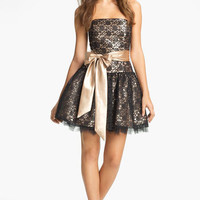 Jessica McClintock Strapless Lace & Tulle Dress   Nordstrom