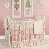 Taylors Toile Baby Bedding In Pink : Preppy Baby Bedding at PoshTots
