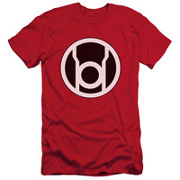 GREEN LANTERN/RED LANTERN LOGO - S/S ADULT 30/1 - RED -