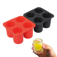 Hot sale Silicone Cool Ice Tray Shooters Supplies Shot Glasses N Eco-Friendly Color Random Shipping