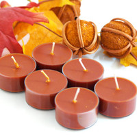 Pumpkin Spice Scented Soy Tea Light Candles, Fall, Autumn Candle, Rusty Orange Color,Pumpkin Tea Lights, Please Choose Your Pack, Handpoured