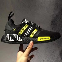 Adidas NMD R1 Reflective shoelace Fashion Trending Running Sports Shoes-3
