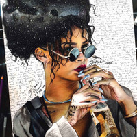 Rihanna, Rihanna Print, Rihanna Poster, Rihanna Wall Art, Art Print, Artwork, Music Poster, Pop Art, Colorful Wall Art, Home Decor