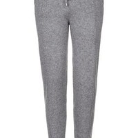Pure Cashmere Joggers - Grey Marl