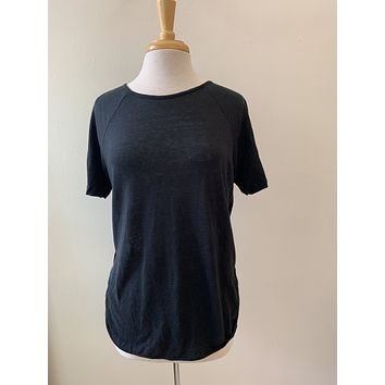 Frame Black Linen T Shirt