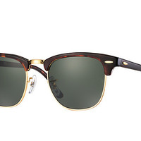 Ray Ban Original Clubmaster Tortoise Sunglass RB 3016 W0366